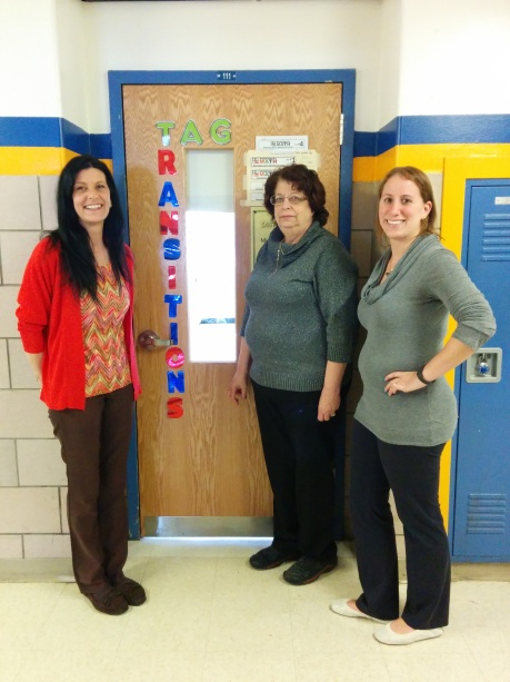 Mrs. Linder, Mrs. Zeevi, and Mrs. Cerbo all lead the Transitions Program that prepares youths for adult tasks.
